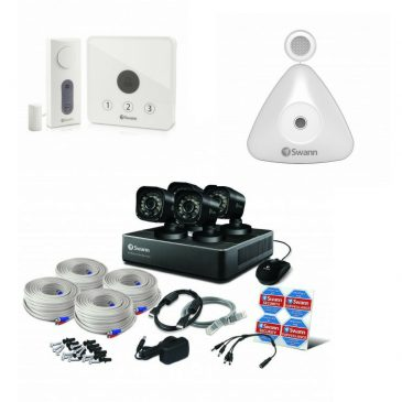 Swann DVR4-1590 – 4 Channel 720p Bundle kit with FREE Garage Parking Sensor & Gate Alert Kit