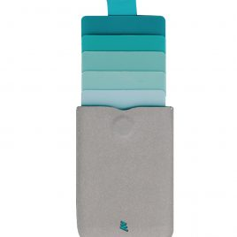 Allocacoc DAX Wallet – Aqua & Grey