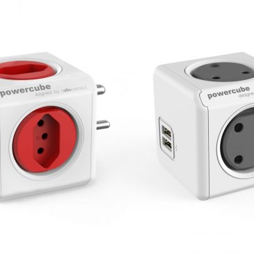Allocacoc PowerCube Red (Type M +5N) & PowerCube USB Grey (Type MM) – Bundle